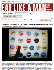 Esquire Coke Freestyle Review