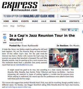 Milwaukee Express Cap'n Jazz reunion rumors