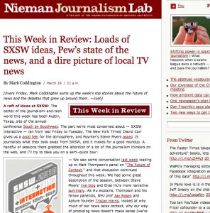 The Nieman Journalism Lab SXSW coverage