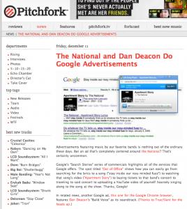Pitchfork Google Ads