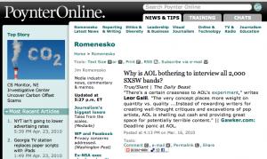Romenesko AOL-SXSW