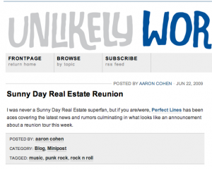 Unlikely Words SDRE reunion