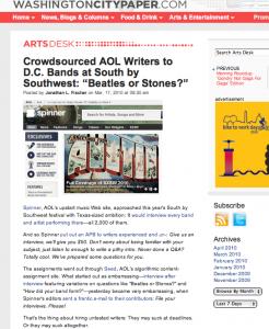 The Washington City Paper AOL-SXSW
